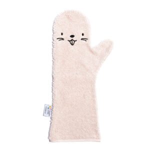 invented4kids babyshower glove petite puce roze bad bever